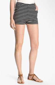 High-waisted stripe shorts.