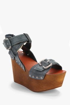 Joe's Jeans Bliss Wooden Platform Wedge #UrbanOutfitters