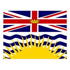 British Columbia, flag Postcard