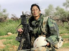 An Arabic IDF Soldier, as is her brother... Arabic ISraelis fighting for ISrael.