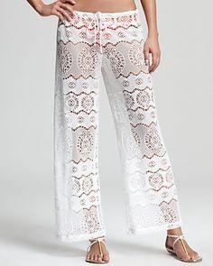 Ralph Lauren Blue Label Ribbon Crochet Cover Up Pants | Bloomingdale's