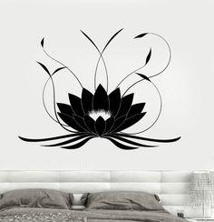 Más el tamaño de la flor de loto de buda Yoga Studio meditar decoración etiqueta de la pared del vinilo del vinilo habitación a prueba de agua decoración Mural D284 en Pegatinas de Pared de Casa y Jardín en AliExpress.com | Alibaba Group