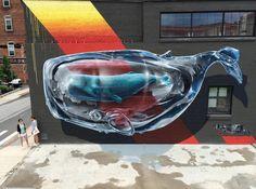 "NEVERCREW - ""Detecting machine n.1"" - Rochester (NY) - WALL THERAPY #streetart"