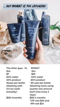 Naturally based anti-aging skin care & hair care products - with an unrivaled business opportunity, a culture of family, service & gratitude Monat Cost, My Monat, Monat Pricing, Monet Hair Products, Beauty Products, Monat Before And After, Natural Hair Care, Partner, Healthy Hair