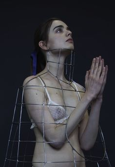 REN KUROSAWA central saint martins jewellery representing the restricting lifestyles of the catholic faith. youth innocence purity religious editorial
