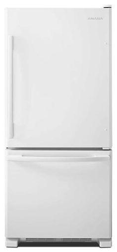 Réfrigérateur Amana à congélateur inférieur - Blanc