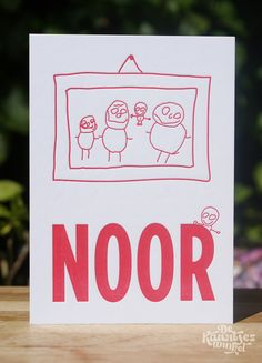 Letterpress geboortekaartje – Noor