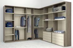 Los vestidores del catálogo Life Box los puedes escoger con dos estilos diferentes, Opened con montantes metálicos abiertos y Closet con montantes de madera