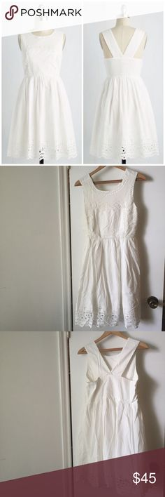 "Modcloth cotton lace dress Beautiful dress from Modcloth, the Heartfelt your Presence dress. 100% cotton, fully lined, great quality piece. Gorgeous eyelet lace. 36"" long. New with tags. ModCloth Dresses"