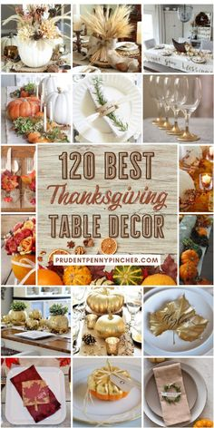 Give your dining room table a seasonal makeover with these beautiful DIY Thanksgiving table decor ideas. From rustic to farmhouse Thanksgiving centerpieces, there are Thanksgiving table decorations for every style and budget. These Thanksgiving tablescapes are sure to impress your Thanksgiving dinner guests. Diy Thanksgiving Centerpieces, Thanksgiving Tablescapes, Dining Room Table, Budget, Farmhouse, Decor Ideas, Rustic, Table Decorations, Dinner