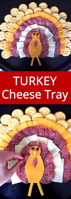 Thanksgiving Turkey-Shaped Cheese Platter Appetizer Recipe