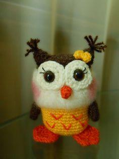 """""""Yellow baby owl  crocheted amigurumi toy by dodigurumi on Etsy,"""" #Amigurumi  #crochet"""
