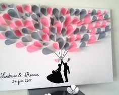 Guest book tree signatures tree prints on a cotton 40 x 40 cm to 60 – Artofit Paper Flowers Diy, Diy Paper, Paper Art, Paper Crafts, Valentines Bricolage, Valentines Diy, Art Diy, Diy Wall Art, 3d Tree