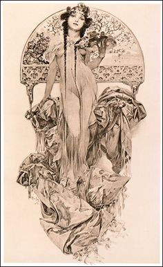 Alphonse Maria Mucha | La Petite Mélancolie