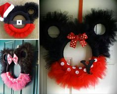 Learn how to make minnie mouse tulle wreath tutorial. We have included a video for you to follow and lots of cute versions for inspiration.