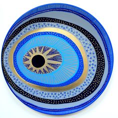 Evil Eye Decor - Wall Evil Eye - Original Art - Art Contemporary - Wall Hanging Decor - Wall Decor Evil Eye - Decorative Plate - Blue Art by biancafreitas on Etsy