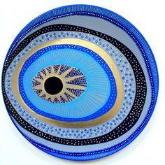 Evil Eye Decor - Wall Evil Eye - Original Art - Art Contemporary - Wall Hanging Decor - Wall Decor Evil Eye - Decorative Plate - Blue Art by biancafreitas on Etsy