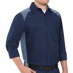 Big & Tall` Red Kap Classic-Fit Colorblock Button-Down Shirt, Men's, Size: