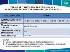 Szkolenia - Dla profesjonalnego wykonawcy - AT PPG Deco wsparcie, szkolenia i certyfikaty #szkolenia #wykonawca