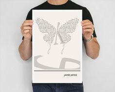 Illustration James Joyce Quote Fine Art Print  Art by ObviousState, $24.00