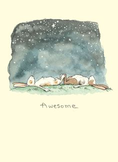 I need to find a companion bunny! illustration by Anita Jeram Art And Illustration, Drawn Art, Bunny Art, Stargazing, Sketches, Sketch Drawing, Kawaii, Prints, Anita Jeram