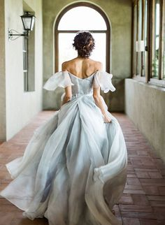 Wedding Gown Chic A Line Prom Dress Modest Elegant Cheap Long Prom Dress Blue Wedding Dresses, A Line Prom Dresses, Modest Dresses, Pretty Dresses, Beautiful Dresses, Tulle Wedding, Gown Wedding, Ethereal Wedding Dress, Off Shoulder Wedding Dress Bohemian