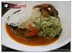 String Hoppers and Crab Curry