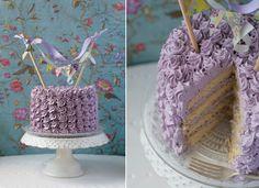 lavender buttercream swirl cake -- pretty idea for a smash cake.