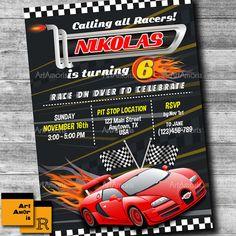 Cars Birthday Invitations Cars Invitation Lightening McQueen