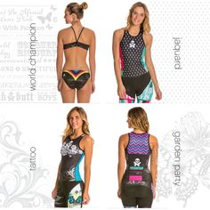 Did you know that SwimOutlet.com has our World Champion, Jacquard, Tattoo + Garden Party designs available in limited-edition color ways?! You can only get 'em here: http://www.swimoutlet.com/betty-designs/?Search=SAYT-betty+d