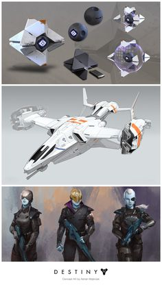 Take a look at Destiny concept art by Adrian Majkrzak! http://goo.gl/KU7ycNBungie Concept Artist Adrian Majkrzak has posted several concept art pieces he created for Destiny. Majkrzak has also worked on video game titles such as DUST 514, EVE Online…