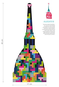 That's a Mole! is an international illustration contest focussed on the city of Turin's iconic monument: the Mole Antonelliana. The Mole, Turin, Pixel Art, Cross Stitch, Arts And Crafts, Concept, Drawings, Geography, Italia