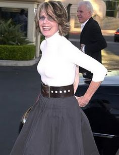 Diane Keaton oh she is a fashion icon I aspire to dress like her when I grow up :)