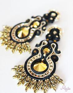 Reje creations soutache earrings- Aurum https://www.facebook.com/rejegioielliinsoutache