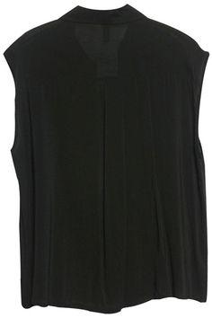#Romwe Sleeveless Black Shirt