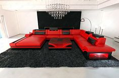 Design Sectional Sofa MEZZO XXL with LED Lights | Ikuzo Sofa