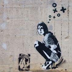 €19 LEINWAND XoooX Girl (ab )20x20 KUNSTDRUCK  von STREET ♥ HEART - www.streetheart-berlin.de auf DaWanda.com