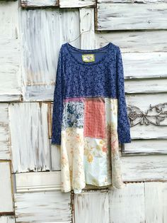 funky tshirt knit fall winter tunic upcycled romantic by CreoleSha