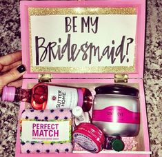 Will you be my bridesmaid box!  Best one I have seen so far!!!