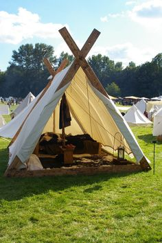 I'm definitely thinking of using a mix of Viking tents & Bedouin style camps.  Viking tent with example of interior decor.