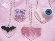 goth pastel necklaces