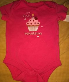 cf6c2b6f126b MY FIRST VALENTINE S One Piece Girls Size 3 Months Holiday Time Pink   fashion  clothing  shoes  accessories  babytoddlerclothing   girlsclothingnewborn5t ...