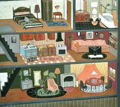 "Polubienia: 151, komentarze: 10 – Natasa Jovanic (@natasa.jovanic) na Instagramie: ""Sweet home #illustrationart #home #floors#picame#illustrationartists"""