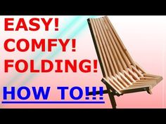 How to make the Folding Stick Chair - Easy Project Possibly a pallet project.
