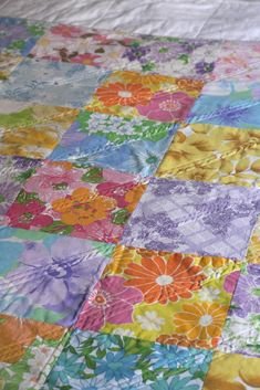 Look What I Made: Vintage Sheet Quilt No.2