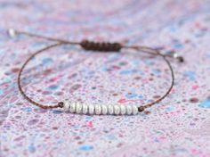 Sterling silver friendship cord bracelet by Zzaval on Etsy