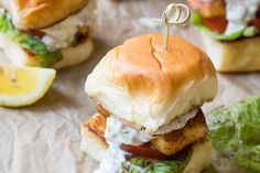 Blackened Barramundi Sliders with Lemon Tartar Sauce