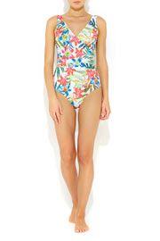 White Floral Swimsuit  #WallisFashion