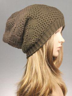 Winter beanie, Winter hat in Coffee, Womens Knit Hat, Slouch Beanie,Slouchy Hat,chunky Hat,chunky beanie,Fashion beanie,slouchy beanie hat