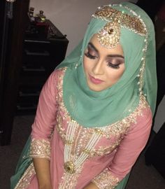 Wedding Hijab Styles, Pakistani Wedding Outfits, Muslim Wedding Dresses, Muslim Brides, Pakistani Bridal Wear, Bridal Dresses, Bridal Outfits, Hijab Bride, Beauty